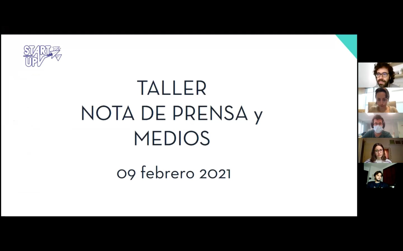Nota de Prensa StartUPV taller